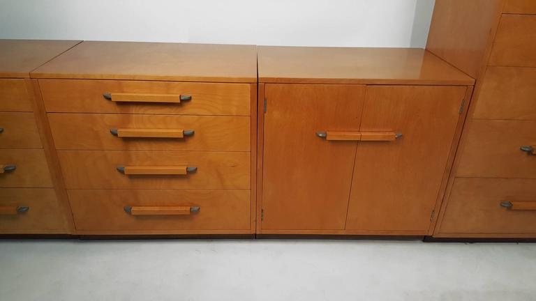'Flexible Home Arrangement' Modular Birch Cabinet System by Eliel Saarinen In Good Condition For Sale In Dallas, TX