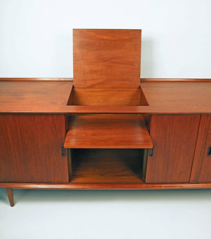 Arne Vodder Danish Modern Tambour Door Stereo or Media Cabinet for Sibast 4