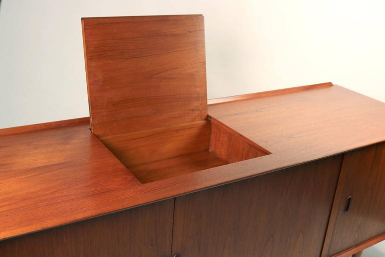 Arne Vodder Danish Modern Tambour Door Stereo or Media Cabinet for Sibast 5
