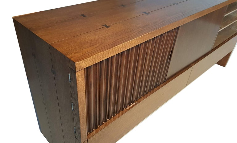 Oak & Walnut Credenza with Butterfly Joinery by Harold Schwartz for Romweber  6