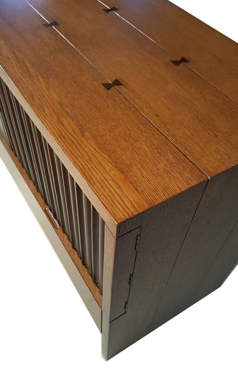 Oak & Walnut Credenza with Butterfly Joinery by Harold Schwartz for Romweber  8