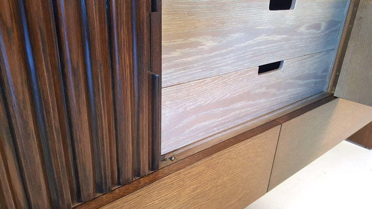 Oak & Walnut Credenza with Butterfly Joinery by Harold Schwartz for Romweber  For Sale 3