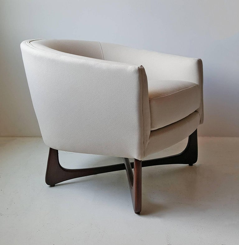 North American Adrian Pearsall Lounge Chair with Sculptural Walnut Base For Sale