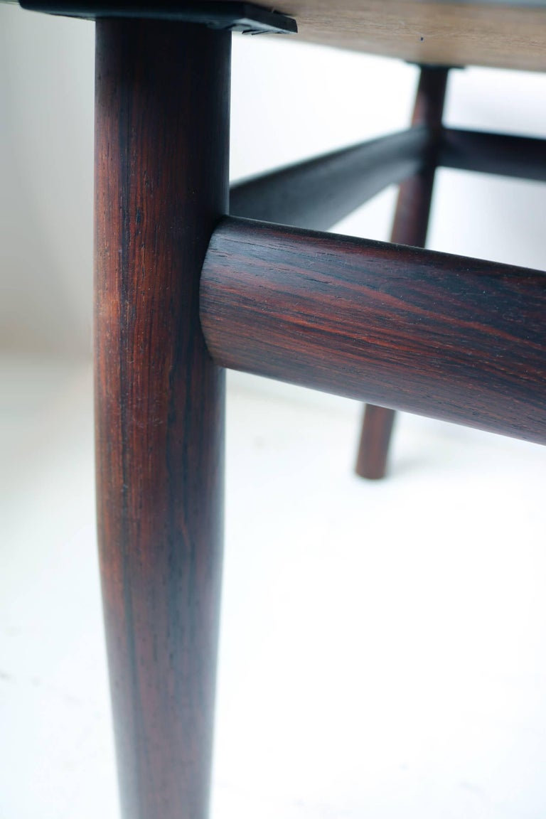 American Edward Wormley Rosewood Occasional Table for Dunbar with Murano Glass Tile Top For Sale