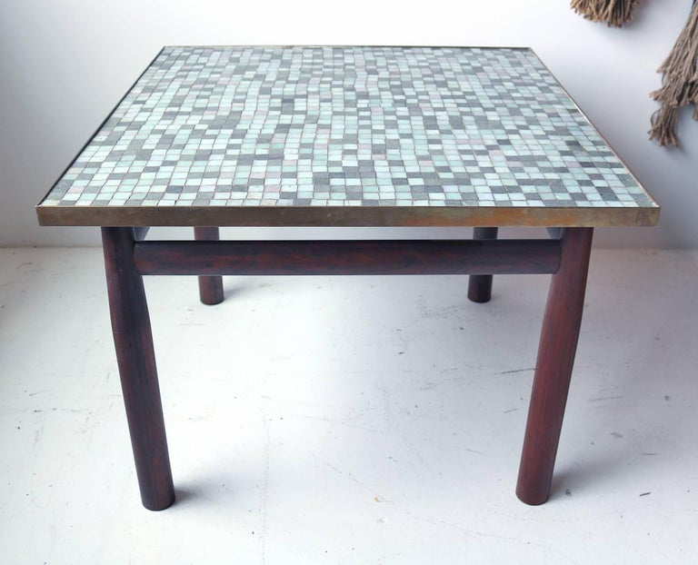 Edward Wormley Rosewood Occasional Table for Dunbar with Murano Glass Tile Top 2