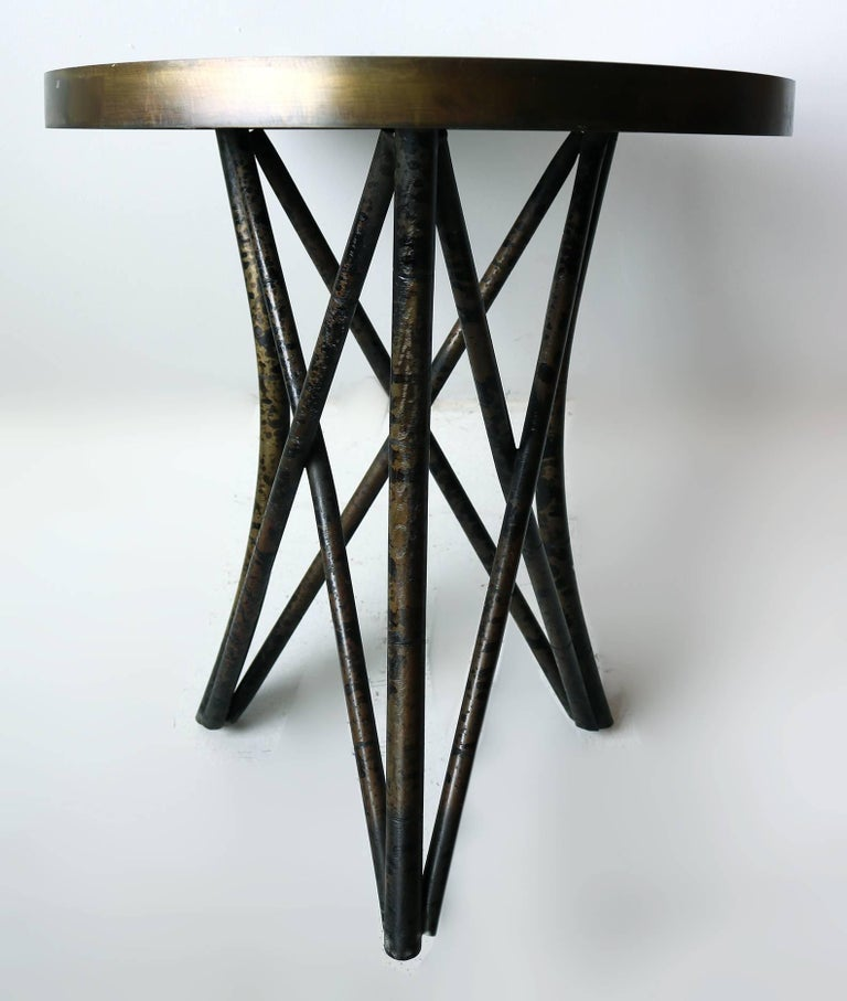 Philip and Kelvin LaVerne 'Still Life' Side Table in Patinated Bronze 3