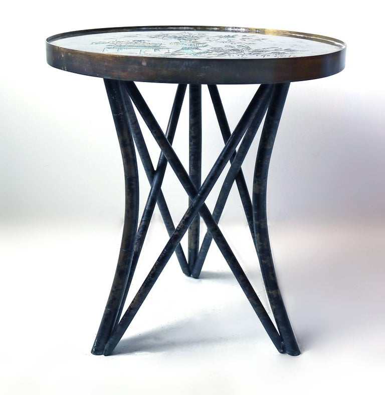 Philip and Kelvin LaVerne 'Still Life' Side Table in Patinated Bronze 2