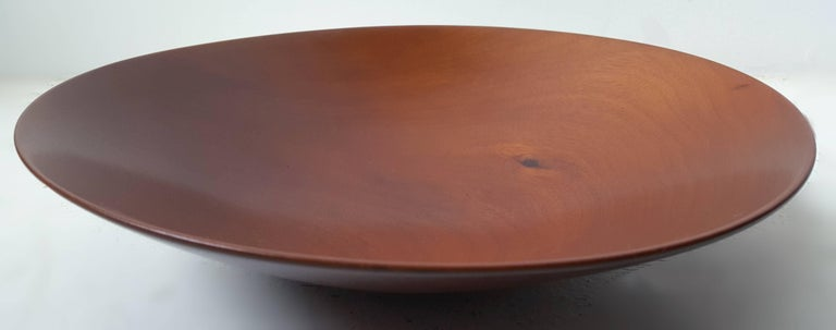 James Prestini Hand Turned Wood Modernist Fruit Bowl in Mahogany 2