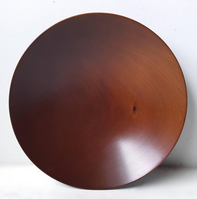 James Prestini Hand Turned Wood Modernist Fruit Bowl in Mahogany 3