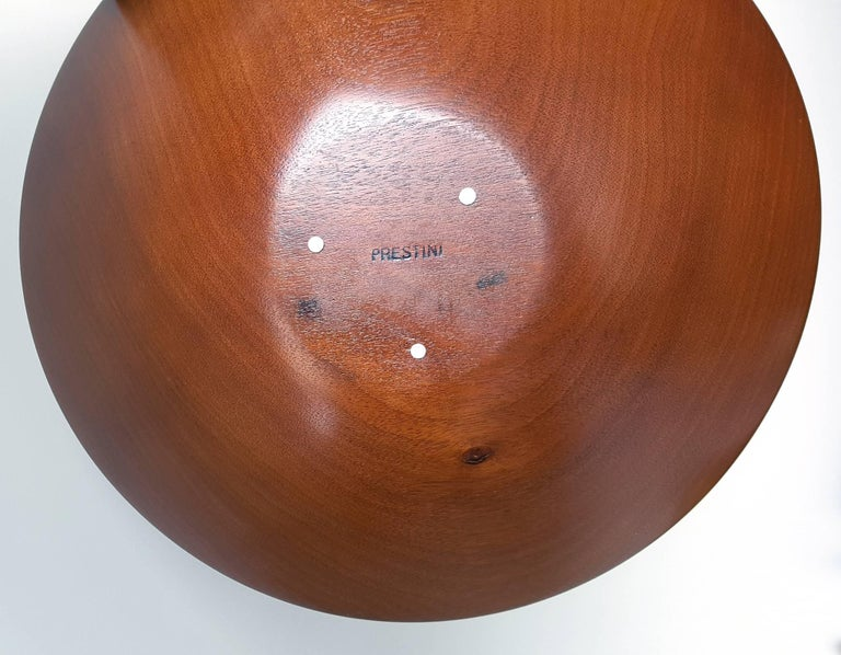 James Prestini Hand Turned Wood Modernist Fruit Bowl in Mahogany 5