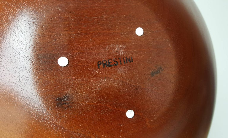 James Prestini Hand Turned Wood Modernist Fruit Bowl in Mahogany 6