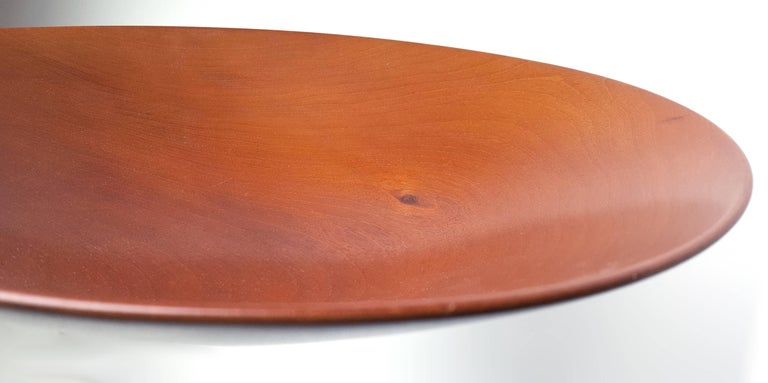 James Prestini Hand Turned Wood Modernist Fruit Bowl in Mahogany 4