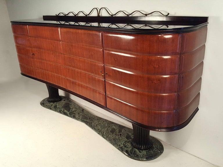 Mid-Century Modern Italian Modernist Credenza by Vittorio Dassi for Dassi Mobili Moderni For Sale