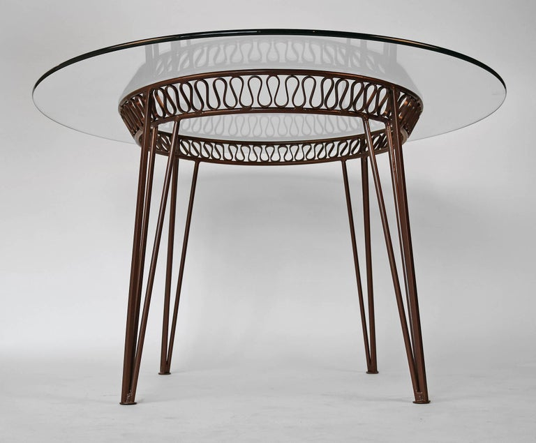 Mid-Century Modern Maurizio Tempestini for Salterini Patio Table and Chairs For Sale
