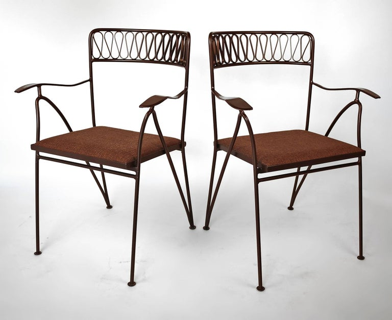 20th Century Maurizio Tempestini for Salterini Patio Table and Chairs For Sale