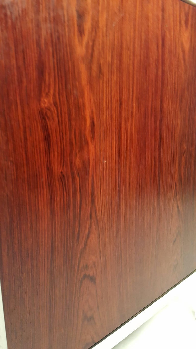 Florence Knoll Brazilian Rosewood and Calcutta Marble Credenza For Sale 2