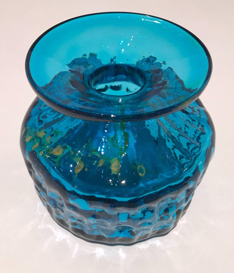 Mid-Century Modern Early Handcrafted Signed Glass Vase by Michael Harris for MDina For Sale