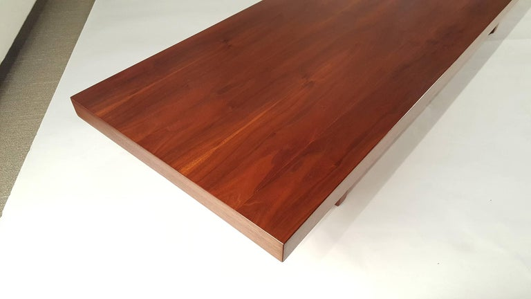 American Milo Baughman for Thayer Coggin Walnut Bench or Coffee Table For Sale