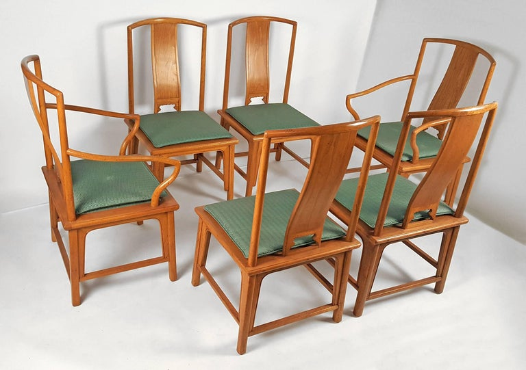 Gorgeous set of six vintage Baker Ming chairs. Very well constructed and very comfortable. All original. 