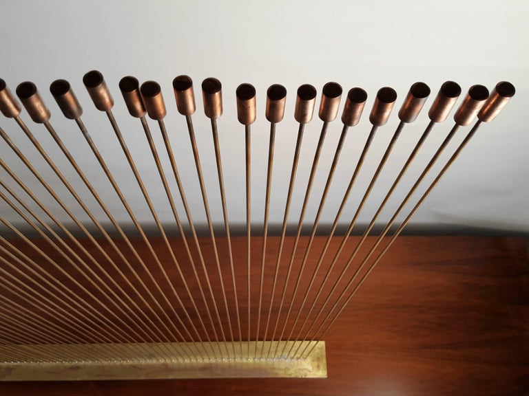 Large Val Bertoia 'Sonambient' Bronze and Copper Sound Sculpture 6