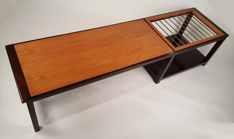 American Edward Wormley for Dunbar Table or Bench with Magazine Display For Sale