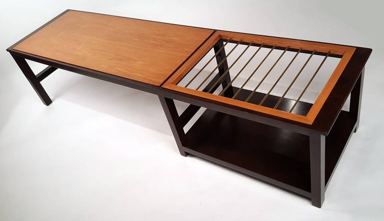 Mid-20th Century Edward Wormley for Dunbar Table or Bench with Magazine Display For Sale