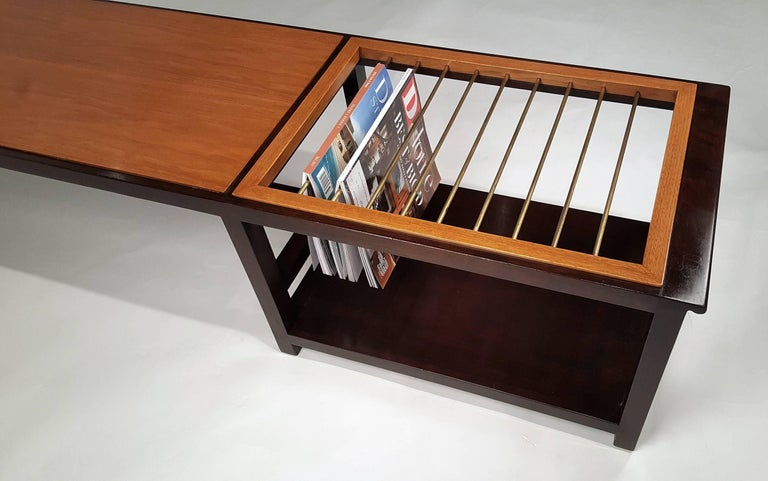 Edward Wormley for Dunbar Table or Bench with Magazine Display For Sale 2