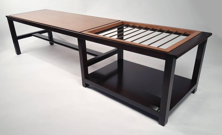 Edward Wormley for Dunbar Table or Bench with Magazine Display In Good Condition For Sale In Dallas, TX