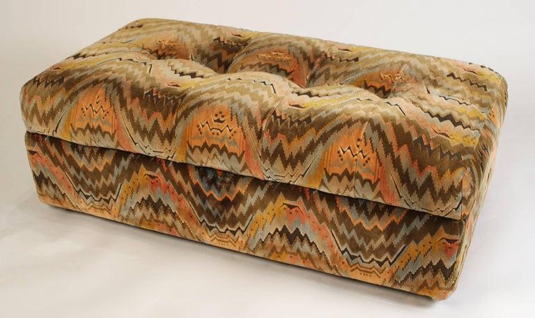 Milo Baughman for Thayer Coggin Shelter Sofa with Treasure Chest Ottomans For Sale 2