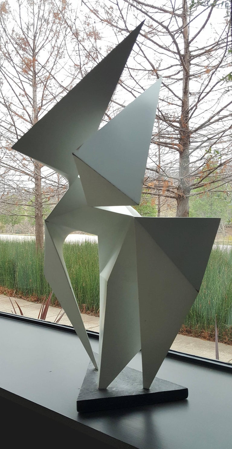 Vintage Abstract Origami Sculpture by Artist Edward D Hart In Good Condition For Sale In Dallas, TX