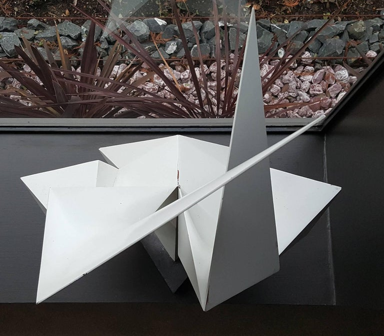 Vintage Abstract Origami Sculpture by Artist Edward D Hart For Sale 2