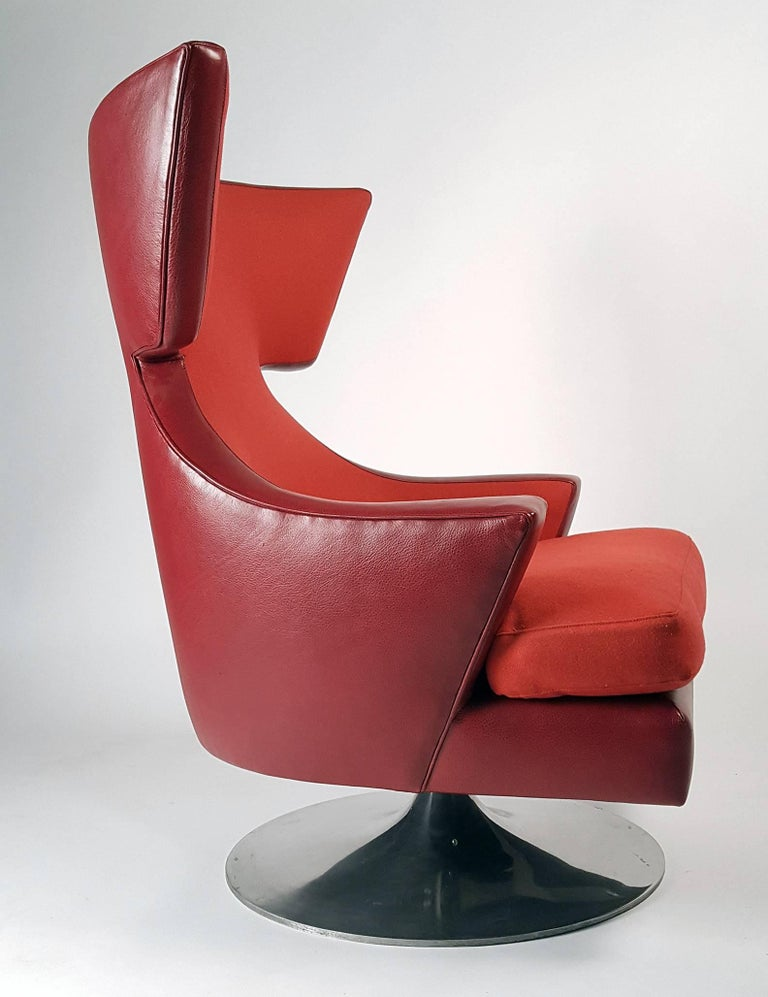 This chair was one of two prototypes created by Knoll under the supervision of Joe D'urso, circa 2007. During the creation of the now world-famous D'Urso swivel chair. The other chair was reportedly destroyed making this a one-of-a-kind prototype.