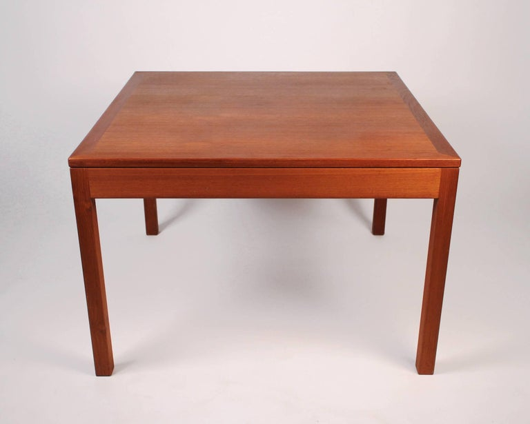 Teak parsons table model number 363 by Børge Mogensen for Fredericia Stolefabrik. Retains original label.