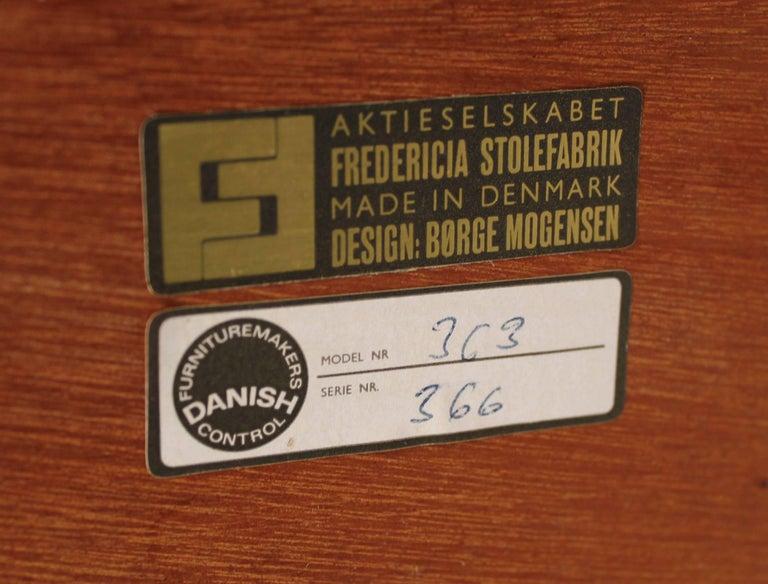 Scandinavian Modern Børge Mogensen Danish Modern Occasional Table in Teak for Fredericia Stolefabrik For Sale