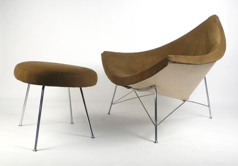 An Icon Of Modern Design Early Production Coconut Chair Ottoman By George Nelson