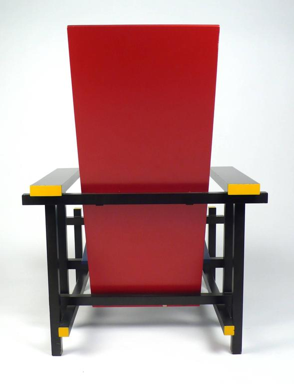 Vintage Gerrit Rietveld Chair Produced under License by Cassina In Good Condition For Sale In Dallas, TX