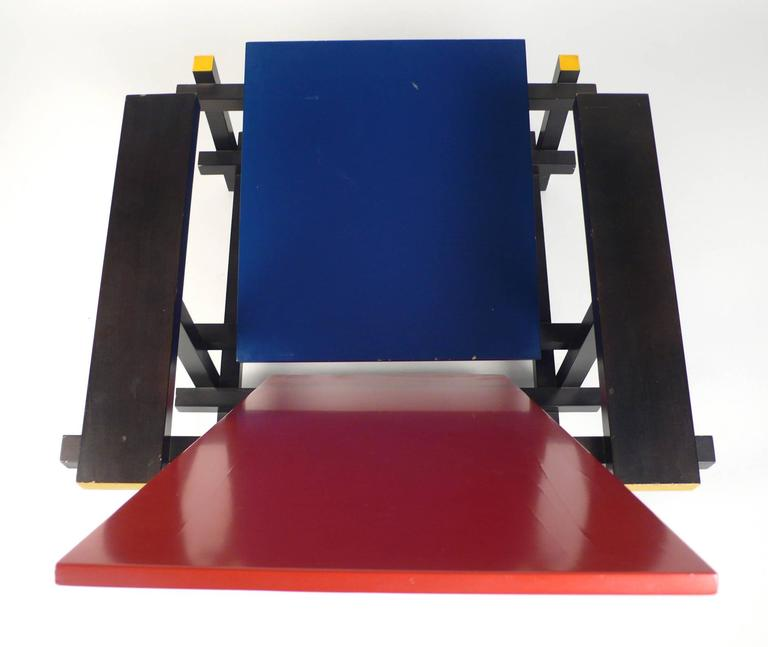 Late 20th Century Vintage Gerrit Rietveld Chair Produced under License by Cassina For Sale