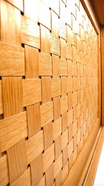 Danish Modern Woven Face Oak Sideboard For Sale 5