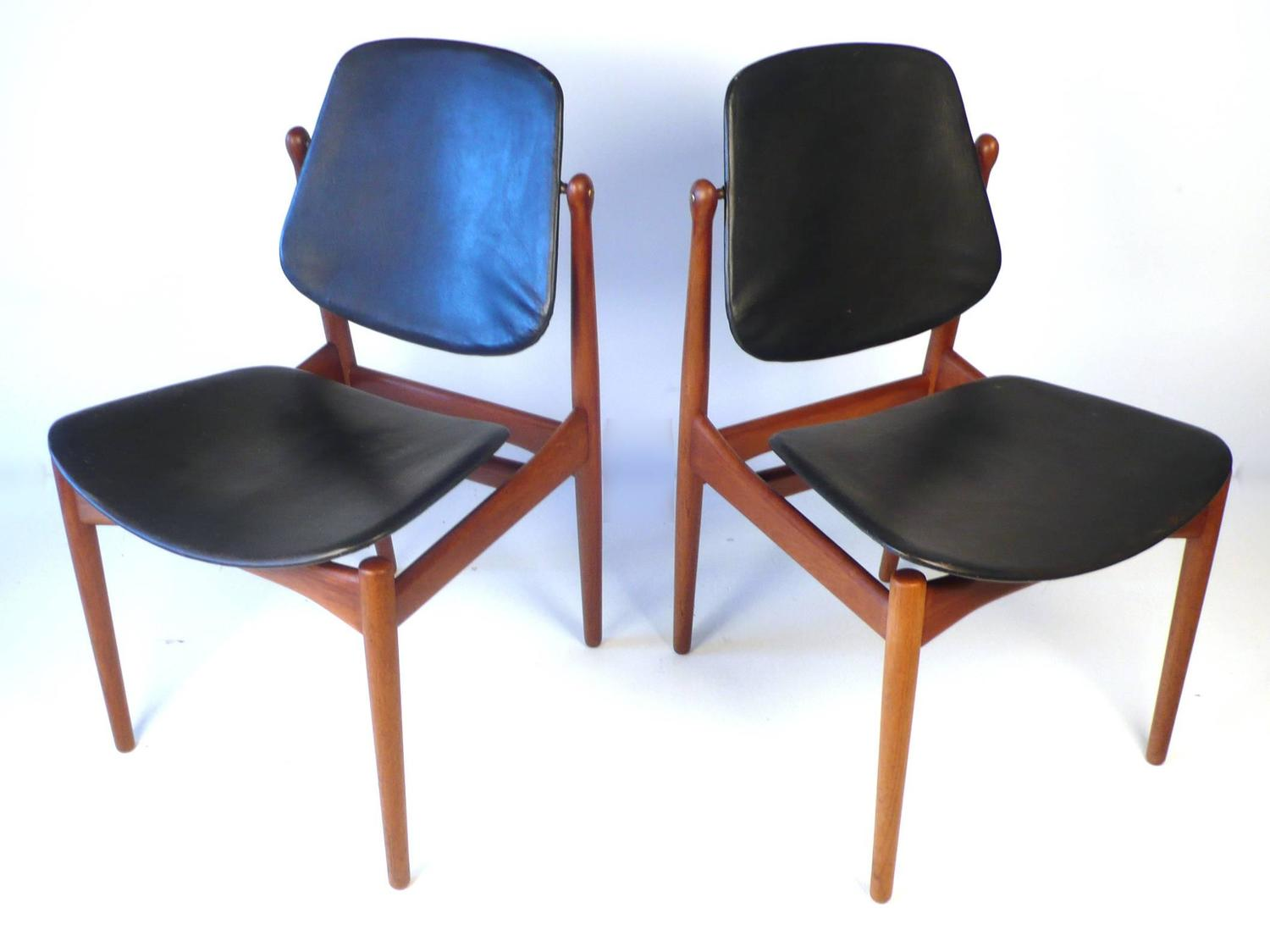 Six Arne Vodder Solid Teak Dining Chairs For Sale At 1stdibs