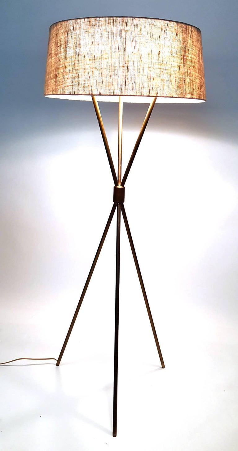 American T.H. Robsjohn-Gibbings Tripod Floor Lamp for Hansen For Sale