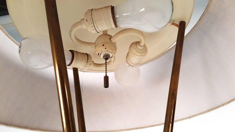 Brass T.H. Robsjohn-Gibbings Tripod Floor Lamp for Hansen For Sale
