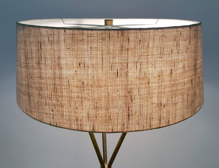 T.H. Robsjohn-Gibbings Tripod Floor Lamp for Hansen In Excellent Condition For Sale In Dallas, TX