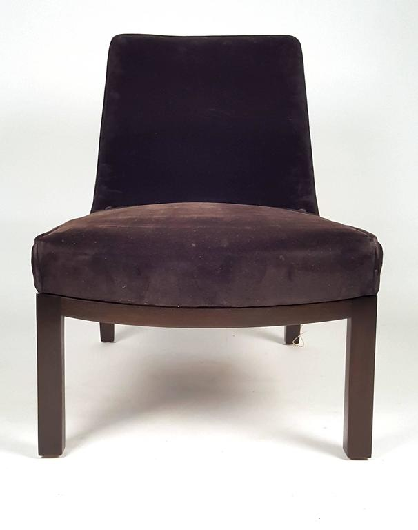 American Edward Wormley Slipper Chairs for Dunbar For Sale