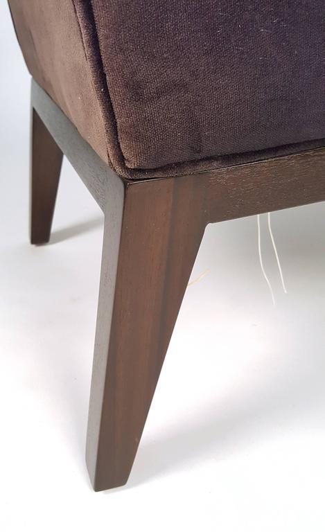 Edward Wormley Slipper Chairs for Dunbar For Sale 1