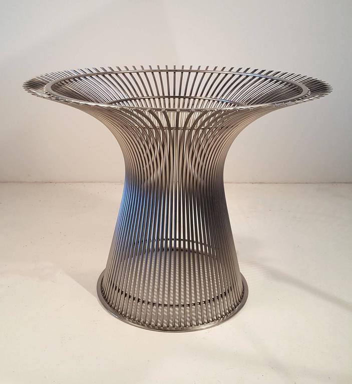 Warren Platner Dining Table In Dark Walnut With Nickel