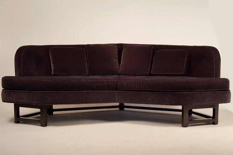 Edward Wormley for Dunbar Angled Sofa In Excellent Condition For Sale In Dallas, TX