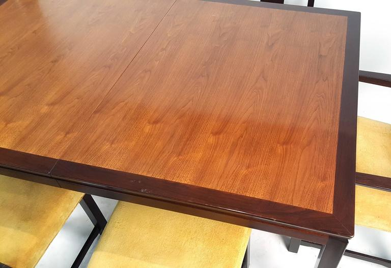Edward Wormley for Dunbar Formal Dining Table and Chairs In Good Condition For Sale In Dallas, TX