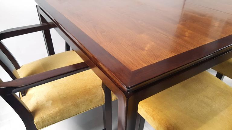 Edward Wormley for Dunbar Formal Dining Table and Chairs 6