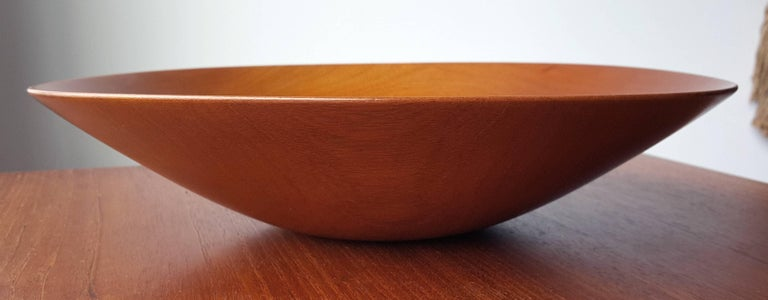 James Prestini Hand Turned Wood Modernist Fruit Bowl in Mahogany 7