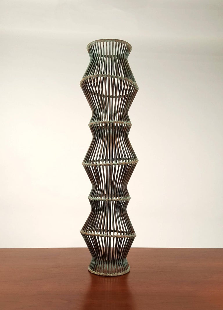 Patinated Douglas Ihlenfeld 'Progression' Series Abstract Rod Sculpture For Sale